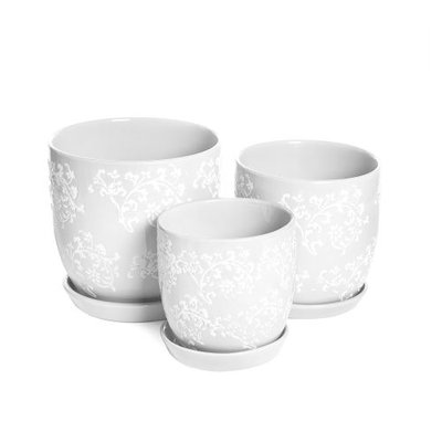Baroque Planters White