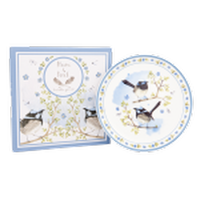 Ashdene Plume & Perch Blue Wren Collection Cocktail Plate