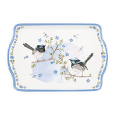 Ashdene Plume & Perch Blue Wren Collection Snack Tray