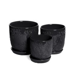 Baroque Planters Black