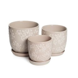 Baroque Planters Latte - Small 13cm D