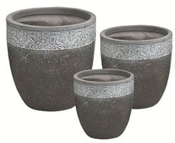 Botanica Egg Pot in Charcoal