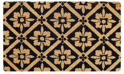 Doormat Black Tile Design