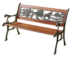 Cast Iron & Timber Bench Seats
