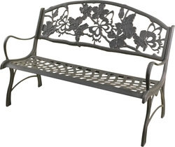 Cast Iron Bench Seat Butterfly