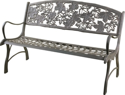 Cast Iron Bench Seat Maple Leaf