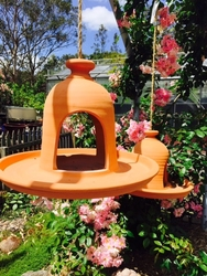 Large Terracotta Birdfeeder