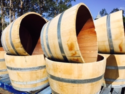 Half Oak Wine Barrel
