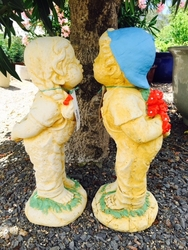 Boy & Girl Kissing Statues