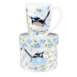 Ashdene Plume & Perch Blue Wren Collection Mug in Gift Box