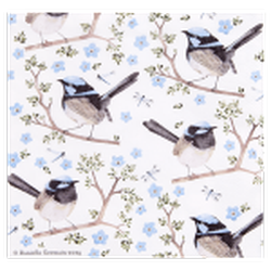Ashdene Plume & Perch Blue Wren Collection Napkins