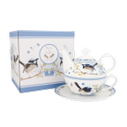 Ashdene Plume & Perch Blue Wren Collection Tea For One
