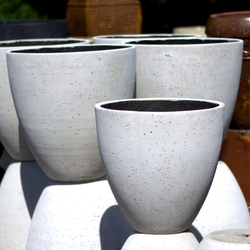 White Egg Planter Pots
