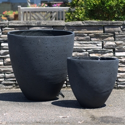 Charcoal Egg Planter Pots